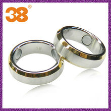 fashion antique stainless steel rings with sapphire long ring