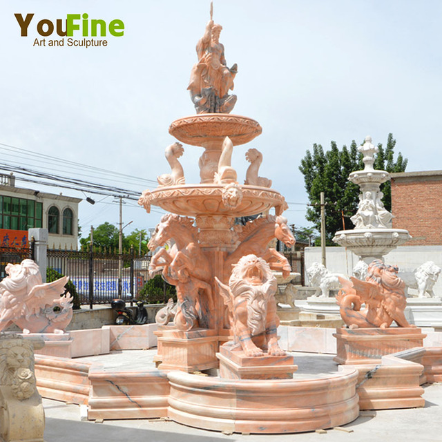 Classic Roman Outdoor Decorative Garden Marble Water Fountain China