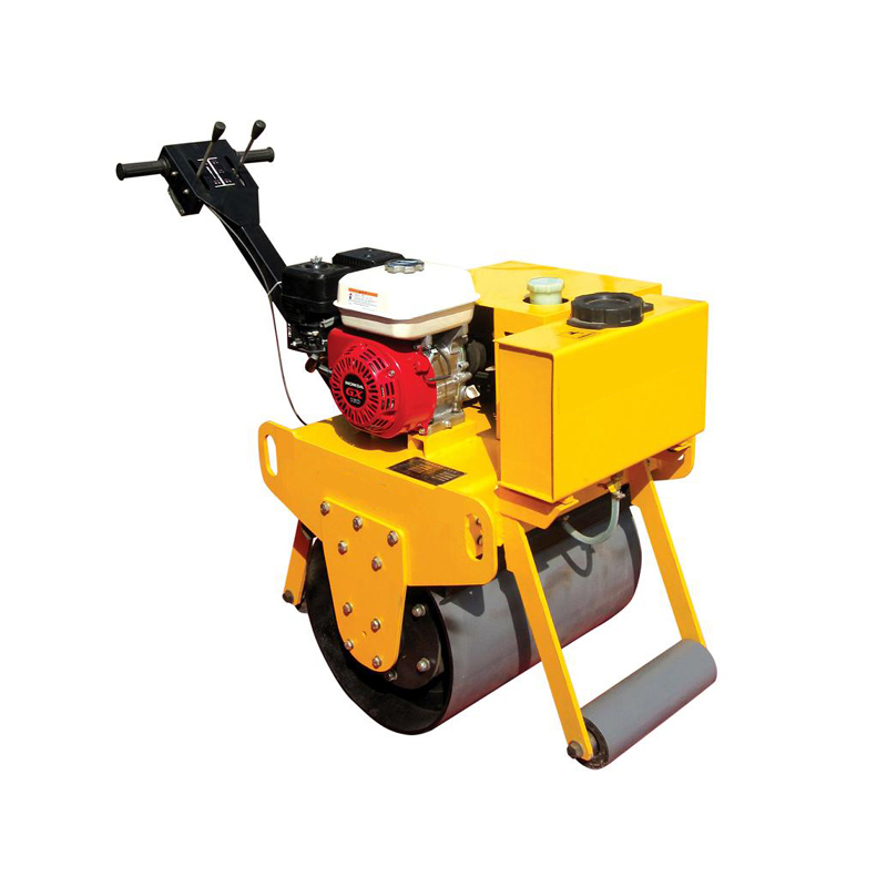 single drum road pedestrian vibratory roller,road roller with super quality