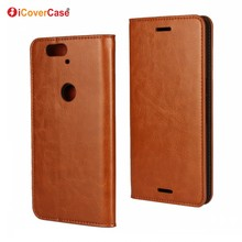 Mobile Phone Accessory Flip Wallet Cover Genuine Leather Case for Huawei Nexus 6P with Card Holder Carcasas Etui Fundas Coque