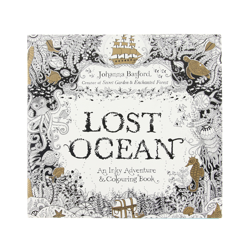 Secret Garden serie LOST OCEAN adult coloring colouring <strong>books</strong> For Relieve Stress Kill Time Painting Drawing <strong>Book</strong>