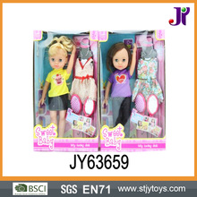 Fashion baby doll 14 inch vinyl online doll dress-up girl game