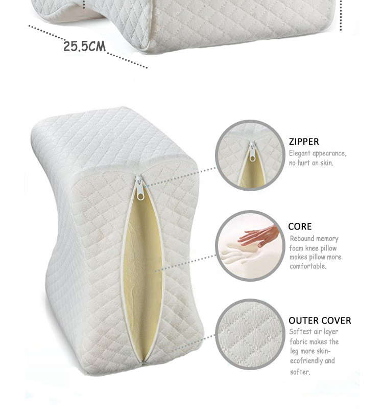 Premium Comfortable Memory Foam Wedge Contour Orthopedic Knee Pillow