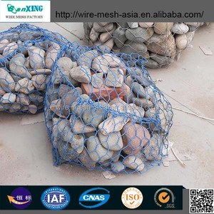 (low carbon steel wire) gabion wire mesh/stone cage /heavy hexagonal mesh for slope protection