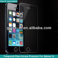 2014 Good Sale For Iphone 5G/C/S Cartoon Tempered Glass Screen Protector with design, Factory Prices