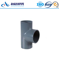 Hot selling plastic pipe fitting pvc equal tee for water supply