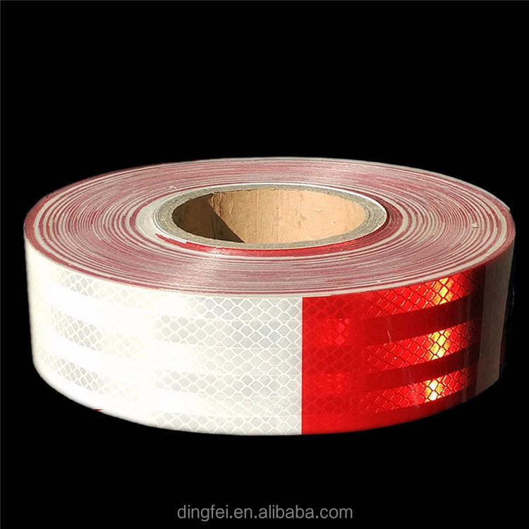 red and white car warming reflective tape