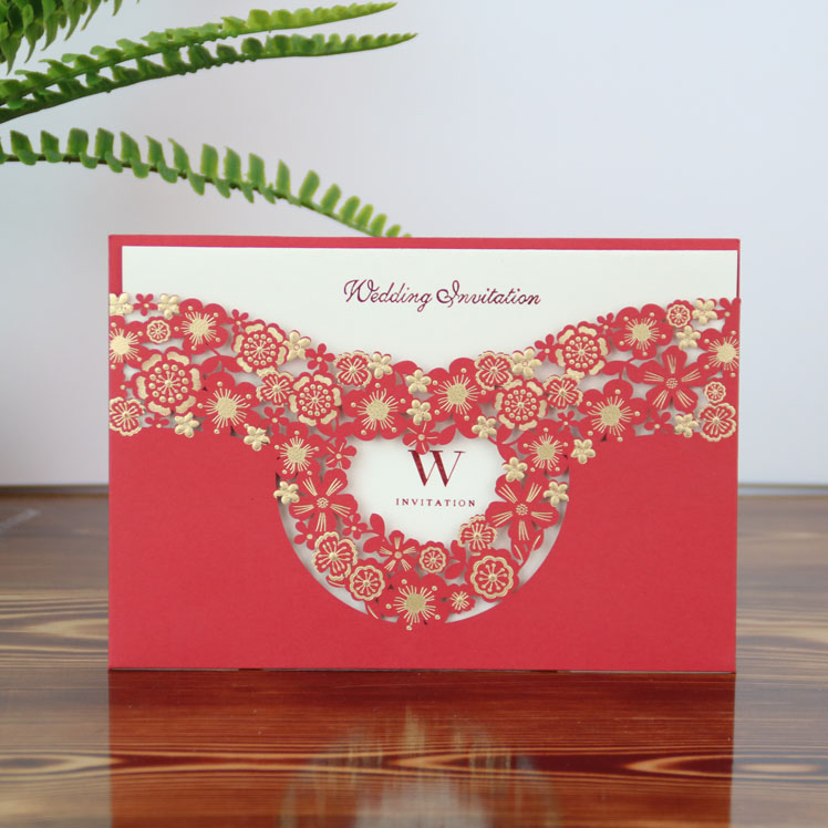Elegent paper <strong>craft</strong> custom printing design luxury cards wedding invitations