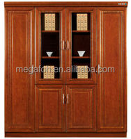 Chinese Furniture Supplier Small Partial Wooden Filing Cabinet/Bookcase Storage for Office Combination(FOHW-1808 4doors)