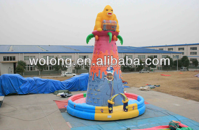 hot sale inflatable climbing wall game for playground