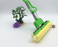 Free hand wash sponge mop heads with stainless steel toilet water squeezing mop collodion sponge