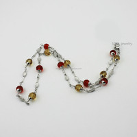 Personalized Austrian Crystal Small Beads Necklace for Womens Trendy Jewelry Designs