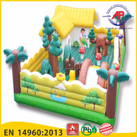 Airpark Outdoor inflatable fun city/large inflatable combo/inflatable castle slide