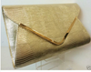 NEW METALLIC GOLD ENVELOPE CLUTCH BAG HANDBAG EVENING BAG