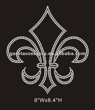 custom fleur de lis rhinestone motif iron on hot fix transfer design for shirt