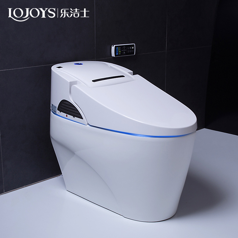 Chinese bathroom ceramic intelligent toilet automatic electronic one piece wc toilet