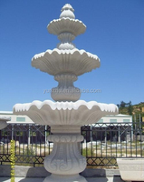 3 Tiered Flower Shaped Water Fountain Cast Stone Marble Granite Stone Fountain for Garden Outside Outdoor