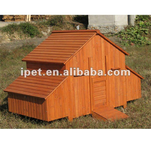 7FT Large Wooden Outdoor Poultry Cage with 2 Nesting Box without Run