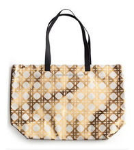 Gold Printed Cotton Canvas Bag
