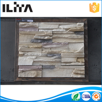 Cheap interior wall stone decoration building materials artificial stone made by silicon molds
