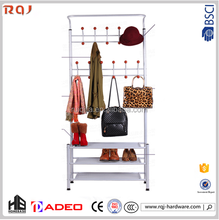 metal clothes hat rack with wheels made in china from hardware manufacturer