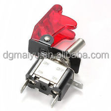 DC 12V 24V Automotive ON-OFF LED Toggle Switch with PC Cover
