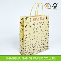 Twisted handle paper bag for tea,paper tea bag, tea packaging paper bags