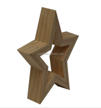 hotsale decorative hanging wooden star for christmas