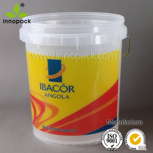Wholesale 5 gallon plastic clear paint can with handle and for 1 gallon clear plastic paint cans