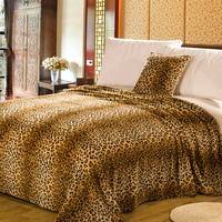 Factory stock cotton animal print fleece blanket