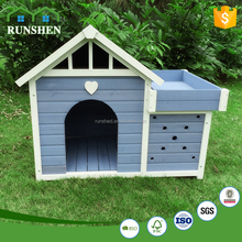 Classic Galvanized Outdoor Dog Kennel Wooden Dog House Wholesale Dog Cages
