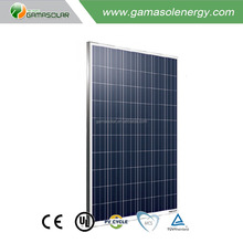 Gama Solar high tech 250w poly solar panel mono cell with long life use