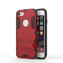 TPU PC kickstand phone case for iphone 6 6S