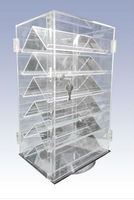 Two Sided Six Shelf Acrylic Display Case with Locks on each door