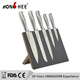 5PCS Hollow Stainless Steel Handle Chinese kitchen Knife Set With Magnetic Board