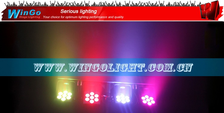 infrared ray Compact LED Bar 4 quad par /compact IRC LED bar / wireless dmx effect bar light
