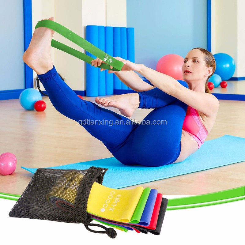 Set of 4 Fitness Stretch Therapy Strength Run Exercise Resistance Loop