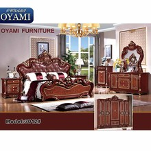 Latest designs luxurious european bedroom furniture set latest wooden bed luxury