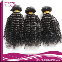 3Pcs for head 6A virgin chinese hair wefts kinky curly hair style 100% chinese human hair