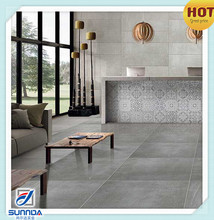 vintage premium unbreakable discontinued grey cement sitting room non slip rustic glazed porcelain floor tiles
