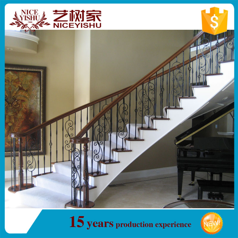 house indoor decorative steel railing/stair handrail/outdoor metal stair railing