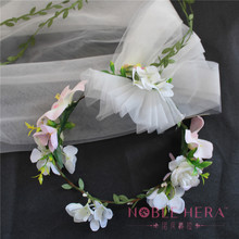 Spring Artificial Flower Garland For Lovely Girls And Can Custom