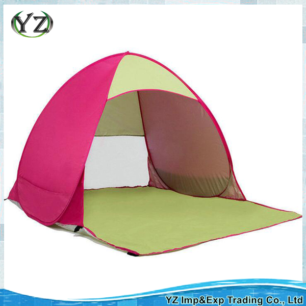 Portable automatic pop up beach tent