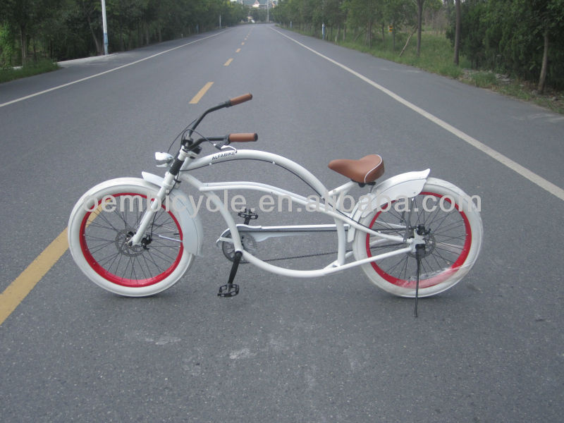 24 inch white color fashion design chopper bike