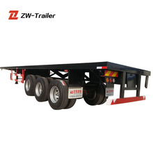 40ft and 2*20ft Container Flatbed Truck Trailer Dimensions