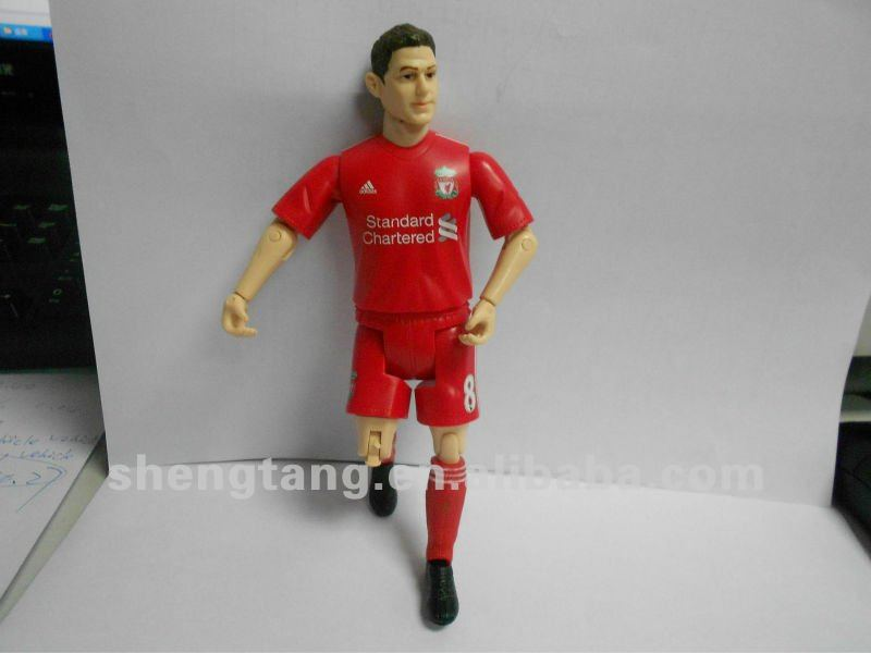 custom made soccer player football player football team figure plastic human character