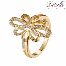 2017 gold plated imitation golden ring