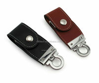 4GB wholesale leather usb flash driver without logo print