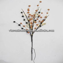 Berry pick with light string garden or home decoration berry branch