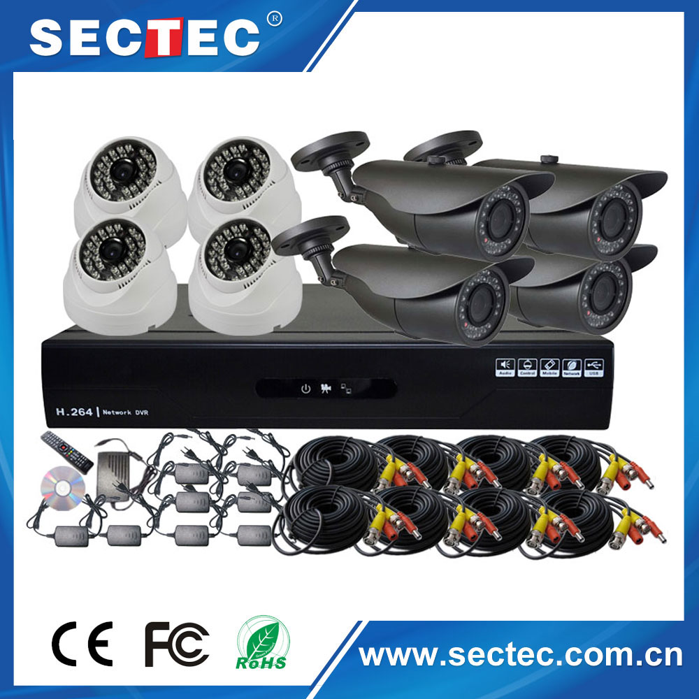 8 CH NVR Kit Security Camera System Outdoor CCTV Camera Bullet Network 16 CH Camera System